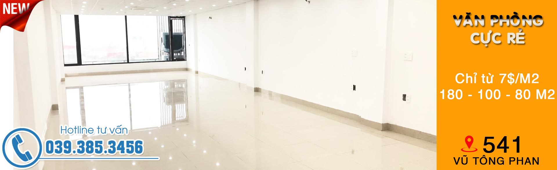 Văn phòng cho thuê 541 Vũ Tông Phan, Thanh Xuân